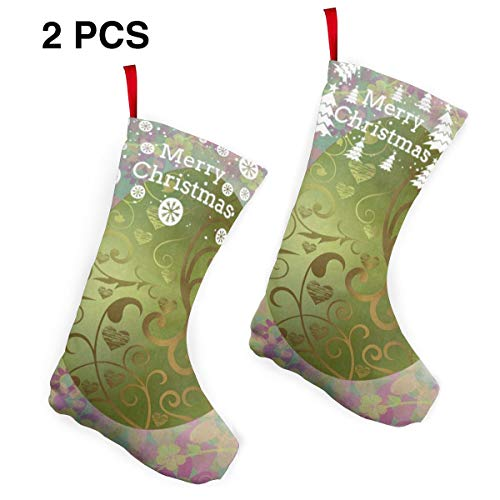 Marvellous Custom Christmas Stockings Painting Damask Colorful Egg Easter Personalized Christmas Decor Socks 2 Pcs Set 12