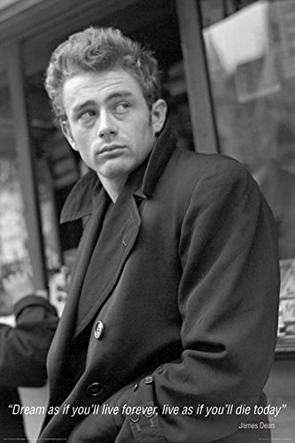 James Dean Dream Quote Classic Hollywood Actor Celebrity Poster Print 24X36