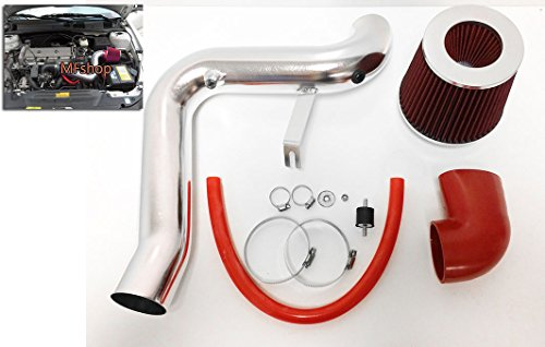 1995-2002 Chevy Cavalier Z24 2.3L 2.4L Cold Air Intake Kit + Filter (Red)