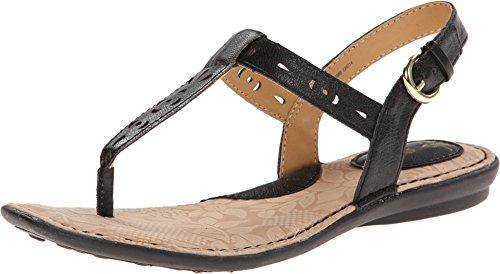 Women's B.O.C, Charel Thong Sandal BLACK 8 M Black Leather Thong