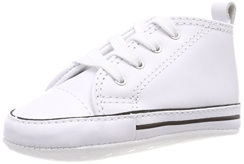 Converse First Star Hi White Leather 81229 Crib Size - Hi Star Leather Sneaker