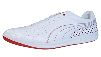 ee324eac30e PUMA GV Love Valentine Womens Leather Sneakers Shoes - White - Size US 6