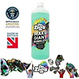 """Dr Zigs Giant Bubble Solution - The ORIGINAL """"Ready to Go"""" Mixture 1 Litre Bottle for Thousands of Giant Bubbles and Outdoor Fun – Made in UK – Ideal for Gifts Presents Parties Party STEM"""