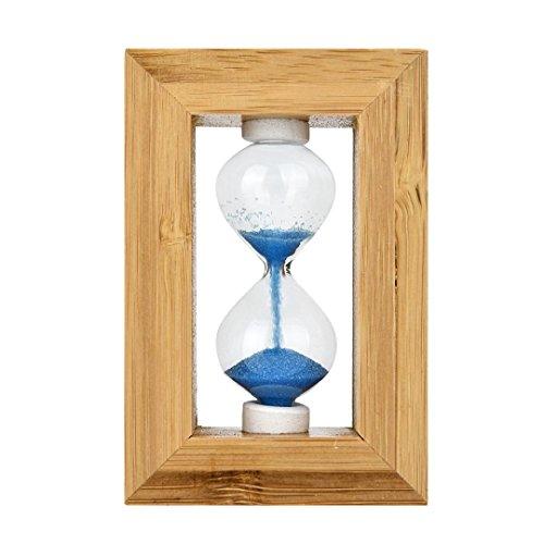 Treasures Desk Alligator (Funny Toy for Kids Baomabao Glass Sand Hourglass Fashion Home Decor Wood frame Desktop Sandglass Toy)