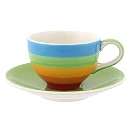 Brown /& Ginger Rainbow Relaxation Beautifully Colourful Dinnerware Items Small Plate