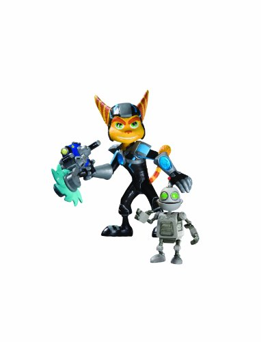 DC Unlimited Ratchet  and  Clank: Series 2: Holo-Armor Ratchet with Clank Action Figure (Ratchet And Clank Quest For Booty Weapons)