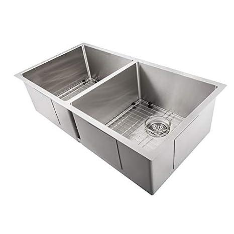 36 Inch Undermount Kitchen Sink.Zline Executive Series 36 Inch Undermount Double Bowl Sink