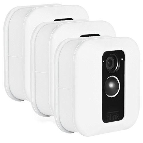 Blink XT Outdoor Camera Silicone Skin - Colorful Silicone Skin to Help Camouflage and Accessorize Your Home Security Camera - by Wasserstein (3 Pack, White)]()
