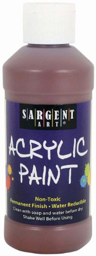 Sargent Art 22-2388 8-Ounce Acrylic Paint, Brown