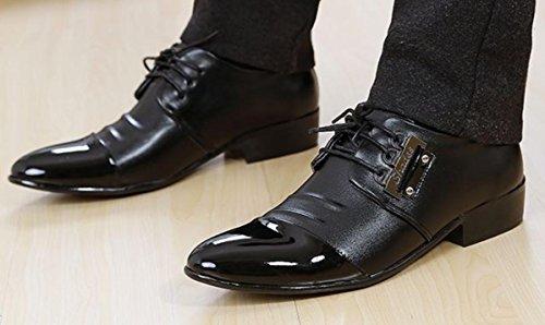 3250BLACK Banchetto Scarpe Scarpe Pochette black Uomo Tatuaggio Oxford 3006 Da Cuoio Abbigliamento Abito Scarpe Pizzo NSPX 40 Sposa in 38 q7UXE