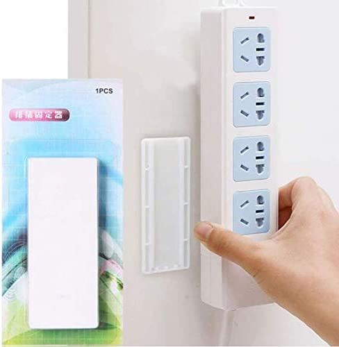 Seamless Punch-free Plug Sticker Storage Stand Holder Wall Fixer for Socket UK