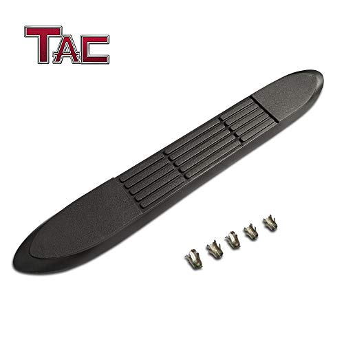 (TAC Replacement Step Pad for 3 Inch Round Tube Side Steps Running Board Side Bar Nerf Bar – 1 Step Pad with 5 Clips)