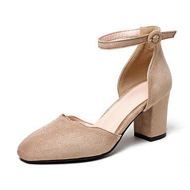 Le donne sexy elegante sandali donna tacchi Primavera Estate Autunno altri Fleece Office & Carriera Abito casual Chunky Heel Nero Rosso Beige kaki , nero , us5 / EU35 / UK3 / CN34
