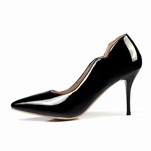 Carolbar Donna Sexy Colori Caramelle Tacchi A Spillo Pompe Scarpe Eleganti Nere