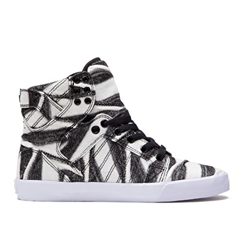 Supra Women's Skytop White/Print/White Sneaker 5 B (M)