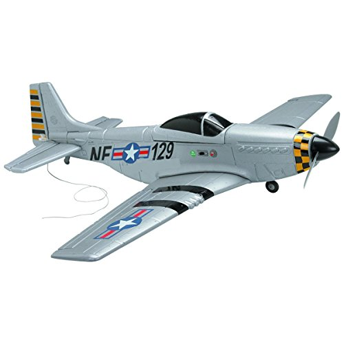 (30in Large WWII Rechargeable Radio Control Mustang Airplane Plane P51 Four channel 72 mHz 1600 Ft Range 10 min Fly Time )