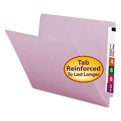 Smead - Colored File Folders, Straight Cut Reinforced End Tab, Letter, Lavender, 100/Box 25410 (DMi BX by Smead