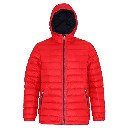 Resistant Mens Jacket Water Red Padded 2786 amp; Wind Navy Hooded fawqB