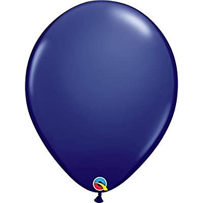 Qualatex 57125 5 Inch Latex Balloons - Navy Blue (100 Pack): Toys & Games