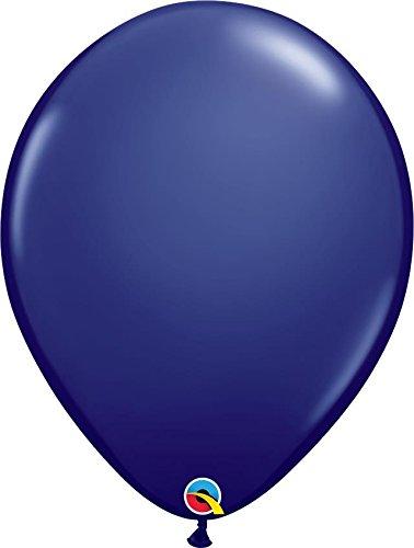 Qualatex 57127 11 Inch Latex Balloons -Navy Blue (100 Pack) ()
