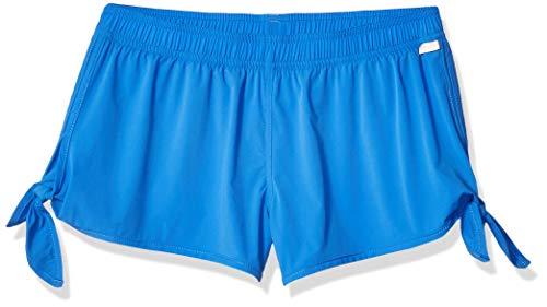 (Seafolly Big Girls' Tie Side Board Short Cover Up, Summer Essentials Blue Lagoon, 10)