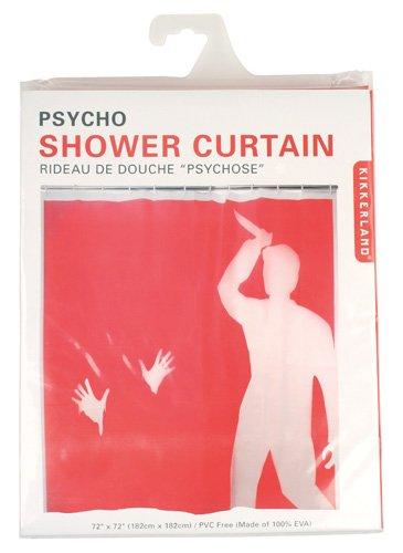 Amazon Kikkerland Psycho Shower Curtain 72 Inch By Home Kitchen