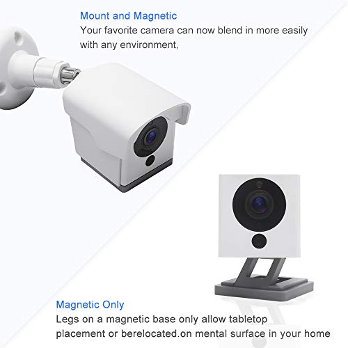 Wyze Cam Mount, Weather Proof 360 Degree Protective Adjustable Indoor and Outdoor Mount Cover Case for Wyze Camera(White)
