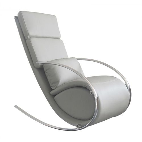 Chloe Rocker Chair & Ottoman Gray by Whiteline Modern Living