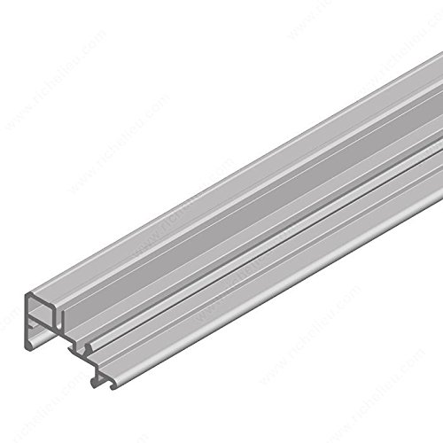Lower rail. Ps40.1/PS40.2, Rail Length 2 450 mm, Rail Finish Stainless (Stainless Steel Lower Track)