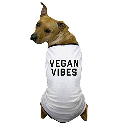 CafePress - Vegan Vibes - Dog T-Shirt, Pet Clothing, Funny Dog Costume ()