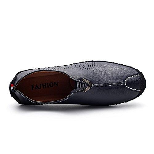 WZG zapatos ocasionales de los nuevos hombres de cuero guisantes un pedal calza los zapatos poner un pie de conducción del conductor perezosos de los hombres Random delivery