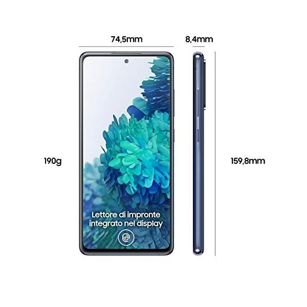 "Samsung Smartphone Galaxy S20 FE 5G, Display 6.5"" Super AMOLED, 3 Fotocamere Posteriori, 128 GB Espandibili, RAM 6GB, Batteria 4.500mAh, Hybrid SIM, Blu (Cloud Navy) 2"
