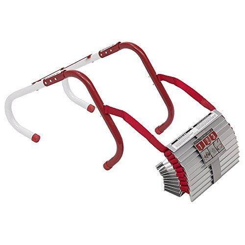 Ladder Rescue - Kidde 468093  KL-2S Two-Story Fire Escape Ladder with Anti-Slip Rungs, 13-Foot