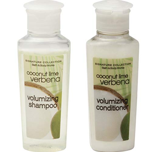 (Bath & Body Works Volumizing Coconut Lime Verbena Shampoo & Conditioner. Lot of 24 (12 of each) 0.75oz Bottles. Total of 18oz.)