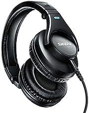 Shure SRH440-BK-EFS - Auriculares profesionales, audio preciso en un rango extendido, plegable, color negro