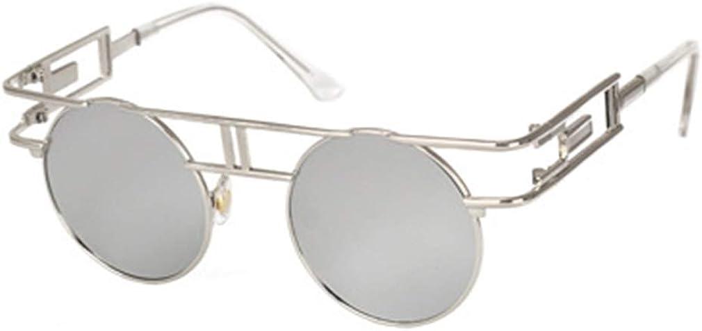 WEIMEITE Gafas de sol de estilo gótico Vintage para Mujer Estilo Steampunk Nuevas gafas de sol con marco de Metal UV400 Gafas