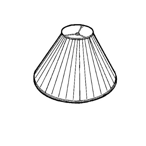 Royal Designs Coolie Empire Gather Pleat Lamp Shade, Beige, 7 x 20 x 12.5