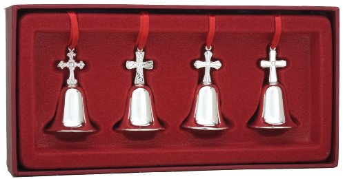 Reed & Barton Set of 4 Miniature Cross Bells Reed & Barton Christmas Cross