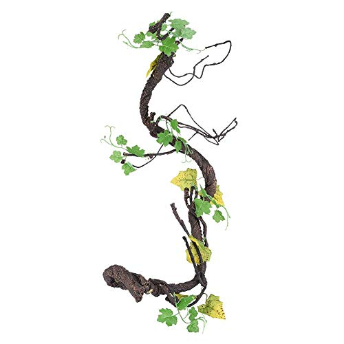 (Reptile Vines Artificial Climber Jungle Forest Bend Pet Habitat Decor for Lizards Frogs Snakes(L))