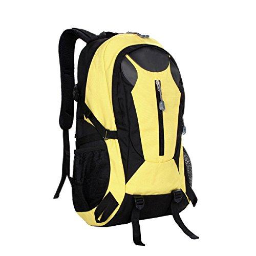 TUOZA Alpinismo Al Aire Libre De Los Hombres Mochila Viajes Combinados Y Los Deportes De Las Mujeres Mochila,Black-OneSize Yellow