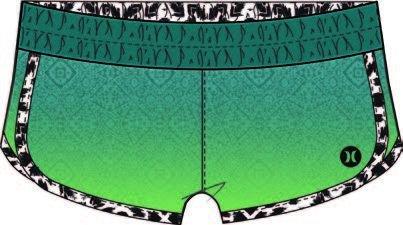 Hurley - Supersuede Printed Beachrider, color verde, talla S