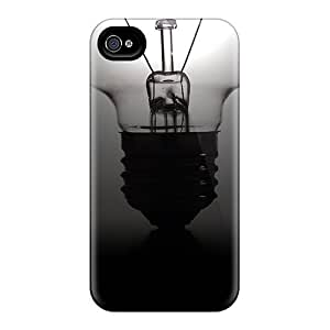 New Snap-on Mialisabblake Skin Case Cover Compatible With Iphone 4/4s- Light Bulb