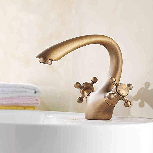 19 Oudan Basin Mixer Tap Bathroom Sink Faucet Antique Basin Faucet 39 (color   15)