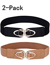 Womens Belt Elastic Stretch Cinch Waistband Ornament Lady Cummerband
