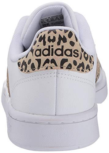 adidas mens Grand Court Tennis Shoe, White/White/Multi, 7 US