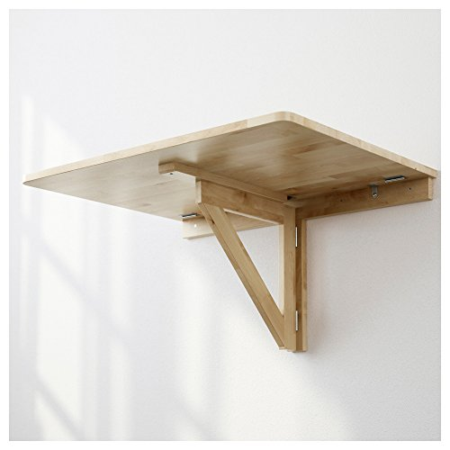 Ikea Norbo Solid Birch Wall Mounted Drop Leaf Bar Table Buy Online In Uae Kitchen Products