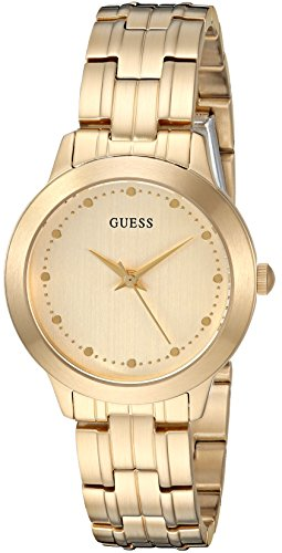 GUESS-Womens-Quartz-Stainless-Steel-Casual-Watch-ColorGold-Toned-Model-U0989L5
