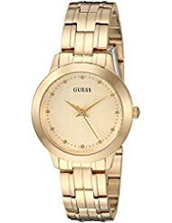GUESS Womens Stainless Steel Petite Casual Watch, Color: Brushed Gold-Tone (Model: U0989L5)