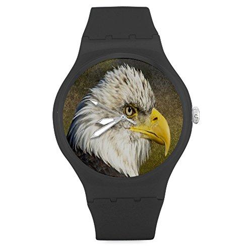 custom-animal-series-birds-eagle-unisex-round-rubber-sport-watchwatch-face-diameter-158