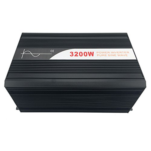 Xijia 3200W (Peak 6400W) Pure Sine Wave power Inverter DC 12V 24V 48V to AC 120V 60HZ Solar converter For Home Use car (DC 48V to AC 120V)